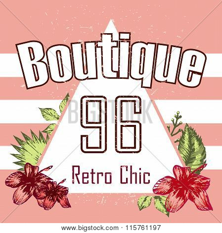 Retro Triangle Illustration Boutigue Vector Print And Slogan