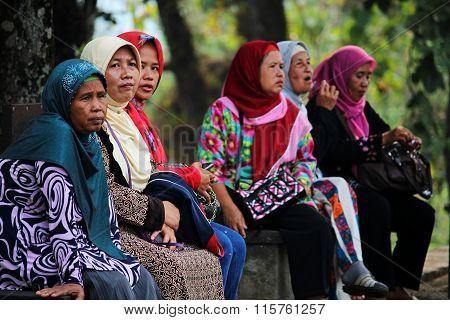 Colorful muslim hijab