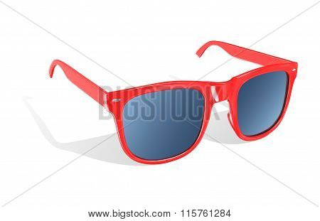 Illustration Of Sun Glasses On White Background