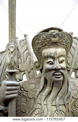Face  In The Temple Bangkok Asia