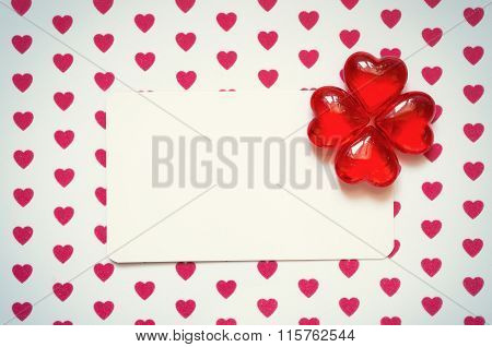 Banner with hearts