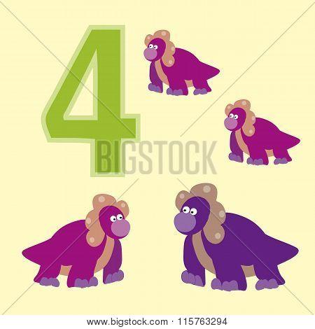 Number 4. Four Dinosaur (protoceratops).