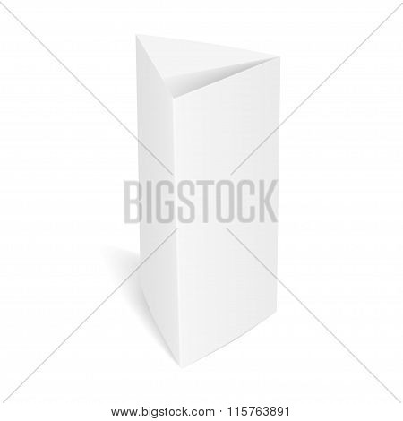 Paper Table Card. Vector Illustration.