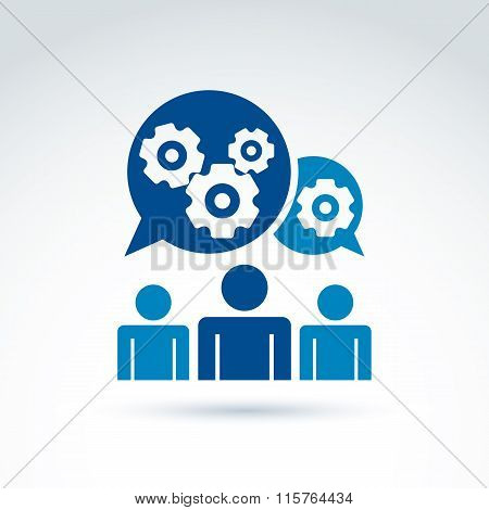Vector Illustration Of Gears - Enterprise System Theme