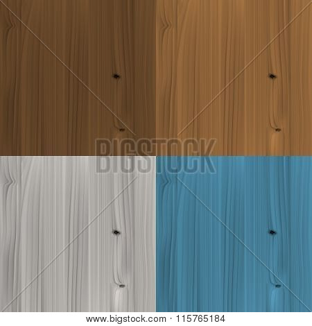 Set of wooden colored textures