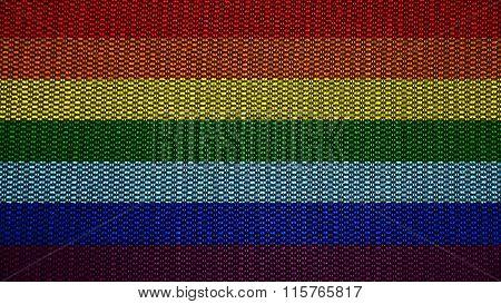 LGBT flag, rainbow flag painted on stitch