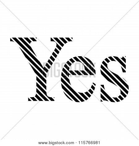 Yes Sign On White.