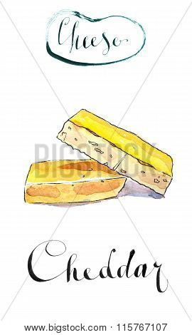 A Piece Of Organic Sharp Cheddar Cheese