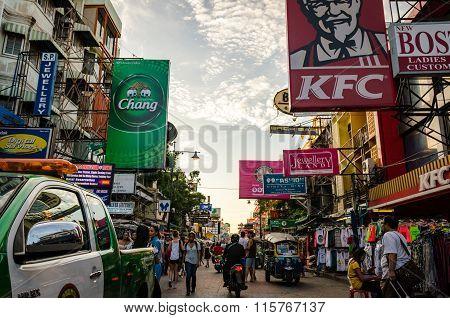 Bangkok (thailand), Khao San Road - October 2015