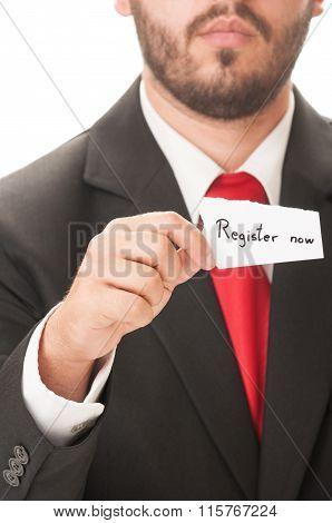 Register Now Concept.