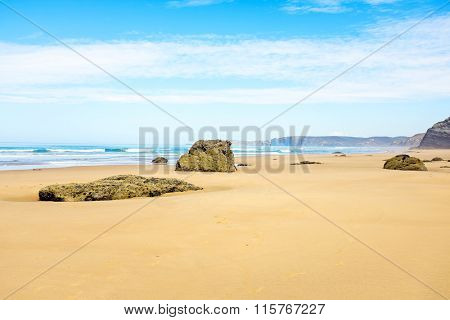 Vale Figueiras beach in Portugal