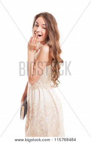 Young Female Model Acting Surprised.