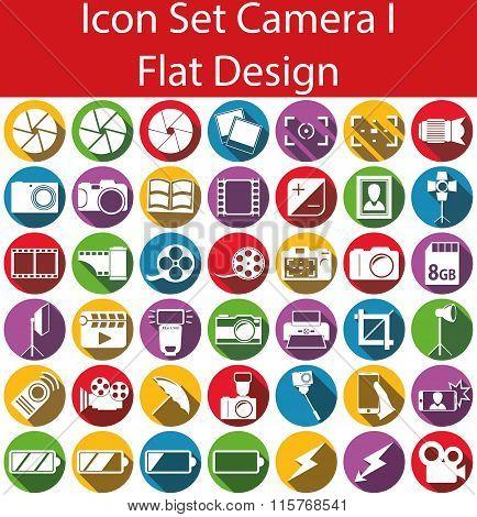 Flat Design Icon Set Camera I