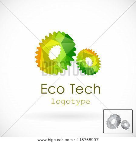 Eco Tech Logo, Geometric Style