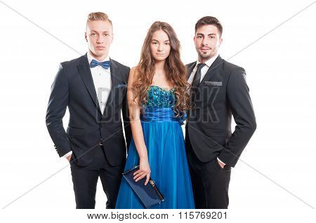 Beautiful People, One Woman And Two Male Models.