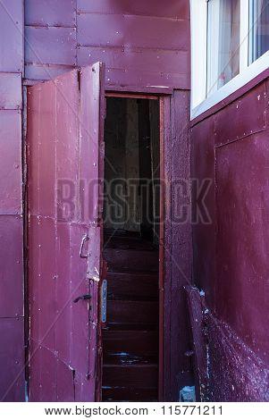 Door of village house