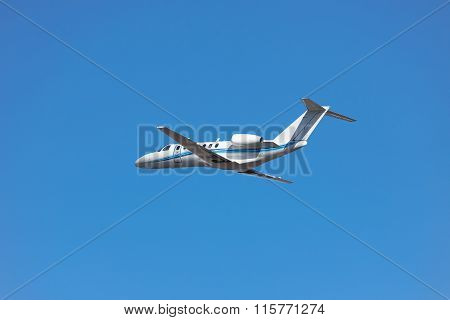 Private Business Jet Takeoff