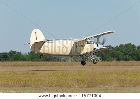Old Biplane Takeoff