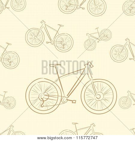 Seamless brown bicycles