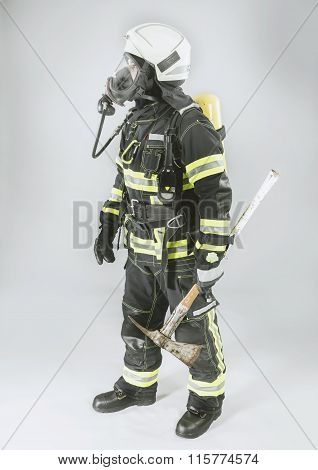 Professional German Fire Fighter in full Protective Suit