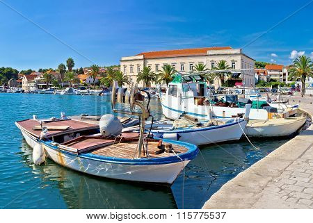 Fishing Boat In Stari Grad Harbor