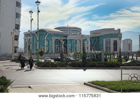 Ashgabat, Turkmenistan - October 20, 2015. Shopping Center