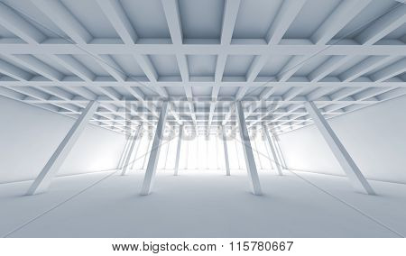 Abstract Architecture, Empty White Room 3D