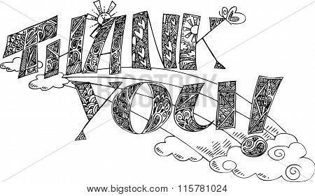 THANK YOU Coloring vector