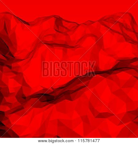 Red Abstract Polygonal Background