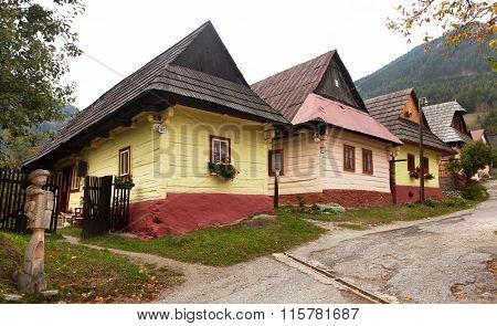 Beautiful Colored Houses In Vlkolinec Village