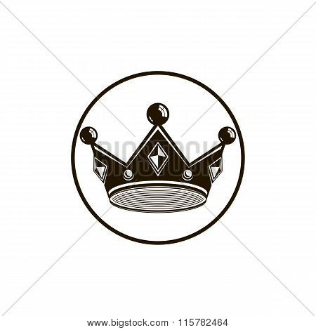 3D Vintage Crown, Luxury Coronet Illustration. Classic Imperial And Vip Symbol, For Use In Advertisi