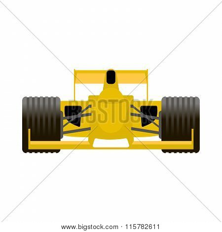 Yellow Racing Bolide Car