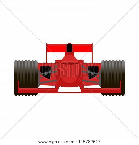 Red Racing Bolide Car