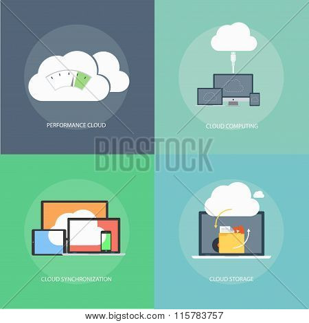 Cloud Computing Technology Concept Design.