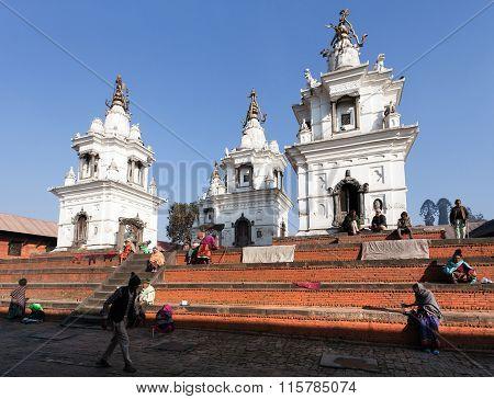People In Pashupatinath, Hinduist Temple In Kathmandu