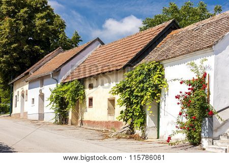 wine cellars, Stoitzendorf, Lower Austria, Austria
