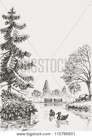 Park sketched illustration