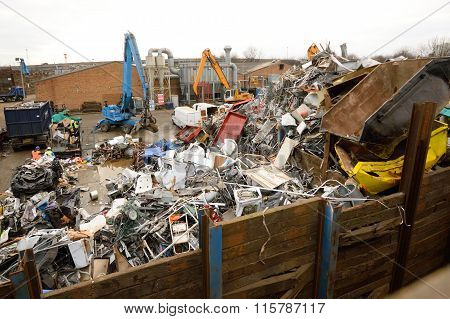 Metal recycling site