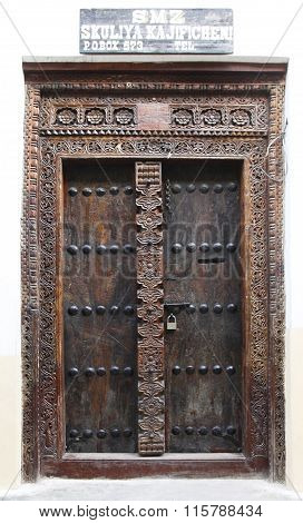 Old Wooden Door At Stone Town
