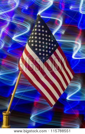 American flag w/patriotic background