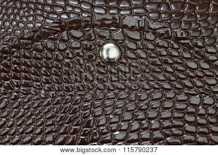 Brown Retro  Leather Purse Texture