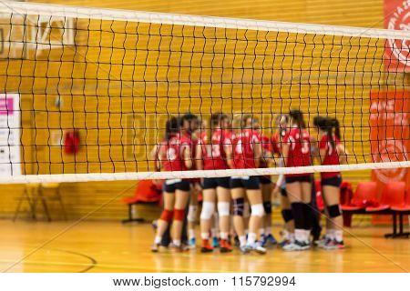 Greek Women Volleyball League Game Aias Vs Panathinaikos