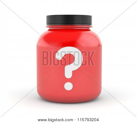 Cans of protein or gainer powder with question