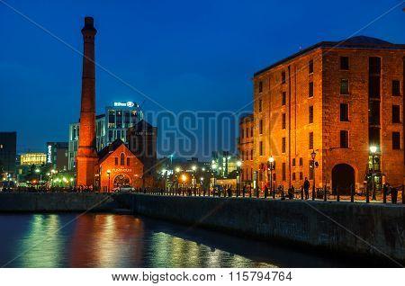 Albert Dock complex in Liverpool, UK