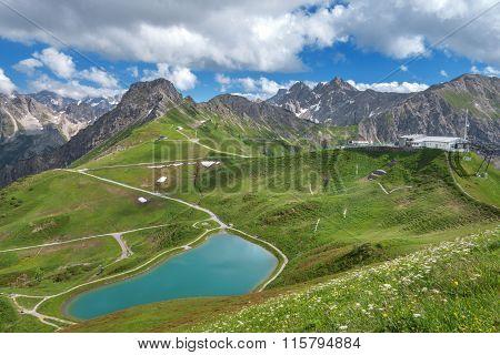 Lake Riezler Alpsee at the Kanzelwandbahn