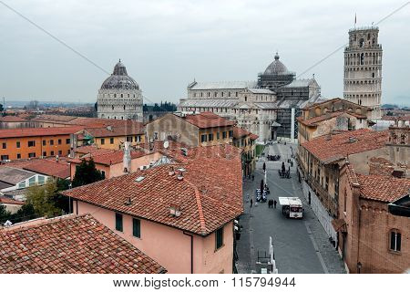 Pisa View Of Dome Square From Above