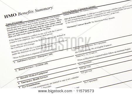 Hmo Benefits Summary