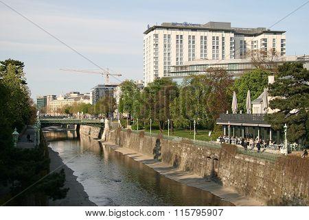 Vienna, Austria - April 22, 2010: Bank Of The River Wien In Stadtpark, Vienna, Austria