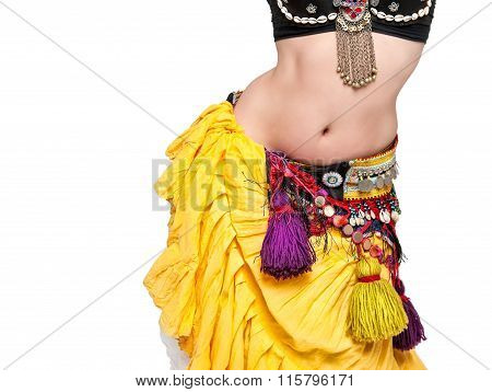 Beautiful Exotic Belly Tribal Dancer Woman