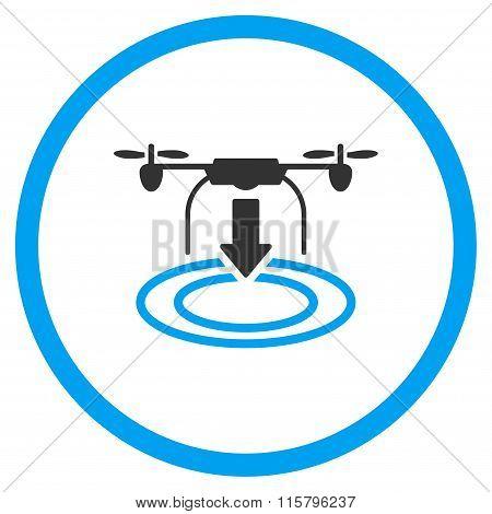 Landing Nanocopter Flat Icon